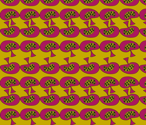 Mellow Mushroom fabric by sbd on Spoonflower - custom fabric