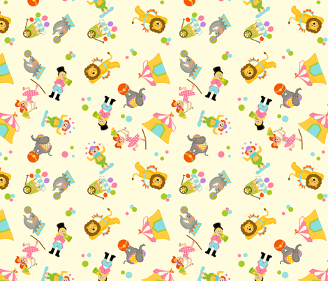 Circus Fun fabric fabric by bellamarie on Spoonflower - custom fabric