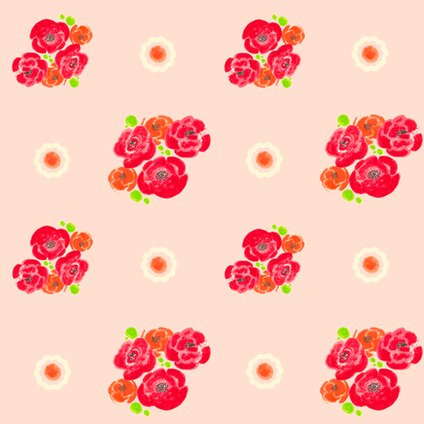 Poppies - Pink Pattern fabric by joybucket on Spoonflower - custom fabric