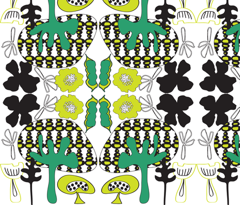 mushroomforest fabric by sbd on Spoonflower - custom fabric