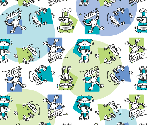 robotGymnast_repeatPattern fabric by jeataylor on Spoonflower - custom fabric