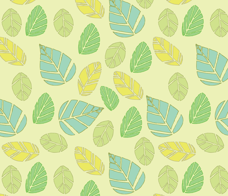 modern tiki leaves fabric by babysisterrae on Spoonflower - custom fabric