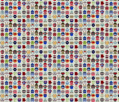 Lotsa Bots fabric by dianarich on Spoonflower - custom fabric