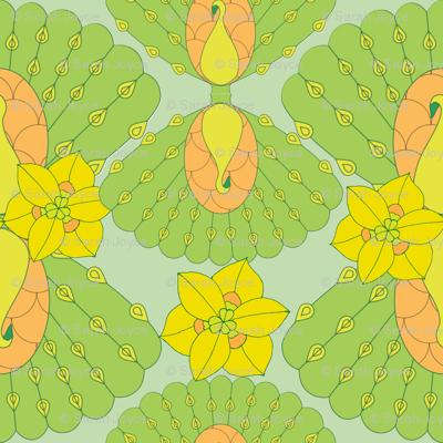 geometric peacocks