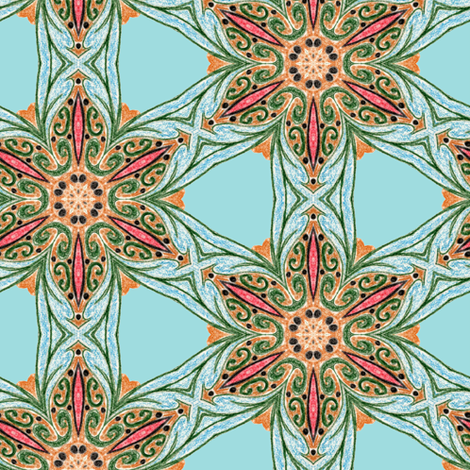 Rebecca's Jewels fabric by captiveinflorida on Spoonflower - custom fabric