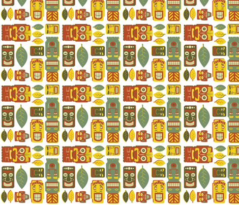 Tiki Party fabric by fuzzyskyfabric on Spoonflower - custom fabric