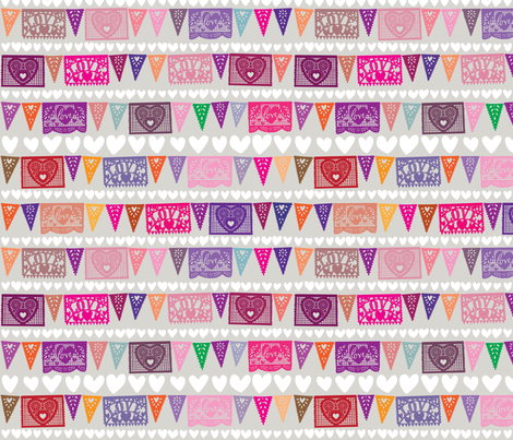 Love Fiesta [Smaller Scale Print] fabric by sammyk on Spoonflower - custom fabric