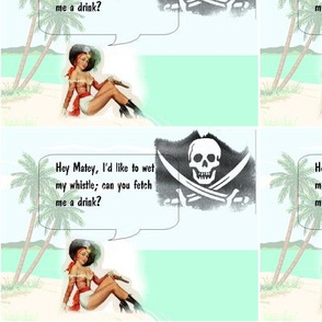 Ship Wrecked Lady Pirate