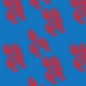 Leaves Cluster Aqua