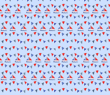 fanion bleu fabric by nadja_petremand on Spoonflower - custom fabric