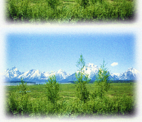 Spring Tetons basic repeat fabric by jan4insight on Spoonflower - custom fabric