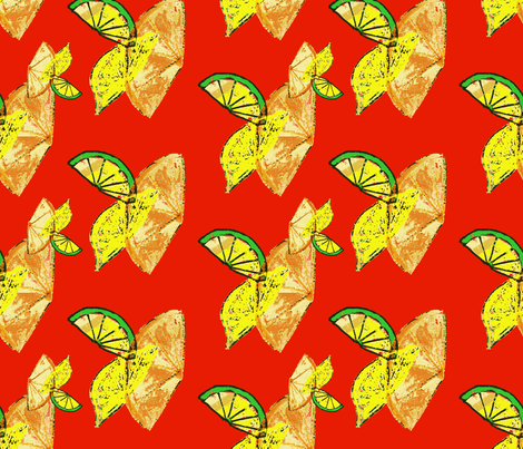 Vitamin C blast fabric by nalo_hopkinson on Spoonflower - custom fabric