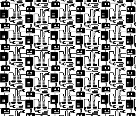 Lil' Robot Crazy Assembly Line fabric by kdl on Spoonflower - custom fabric