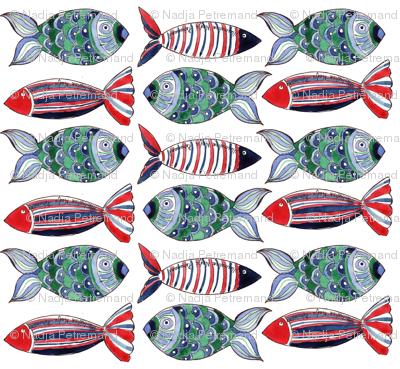 poissons ribambelle M