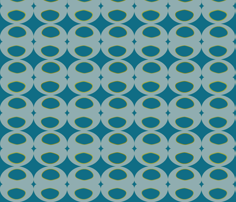 Olive Martini Blue fabric by sbd on Spoonflower - custom fabric