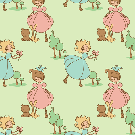 Forest Frolic fabric by jillianmorris on Spoonflower - custom fabric