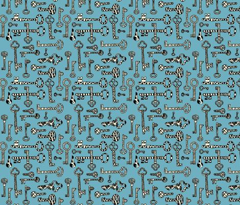 Antique Shop - Skeleton Keys fabric by paulahoffmandesign on Spoonflower - custom fabric