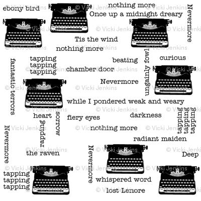 Typewriter: Edgar Allan Poe