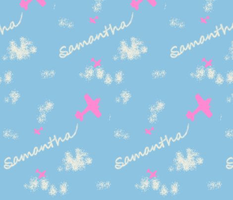 cloud_writing fabric by curlysue on Spoonflower - custom fabric