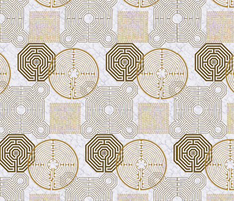 labyrinth_repeat fabric by wiccked on Spoonflower - custom fabric