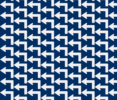 Left Turn fabric by blue_jacaranda on Spoonflower - custom fabric