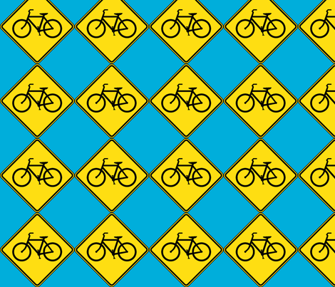 Bicycle fabric by blue_jacaranda on Spoonflower - custom fabric