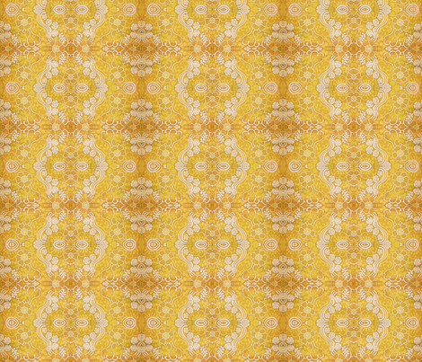 swirly_yellow_2 fabric by snork on Spoonflower - custom fabric