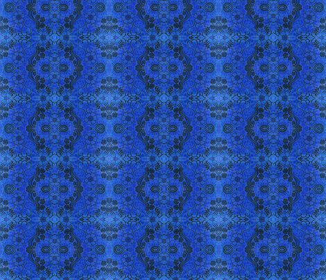 swirly_blue_1 fabric by snork on Spoonflower - custom fabric
