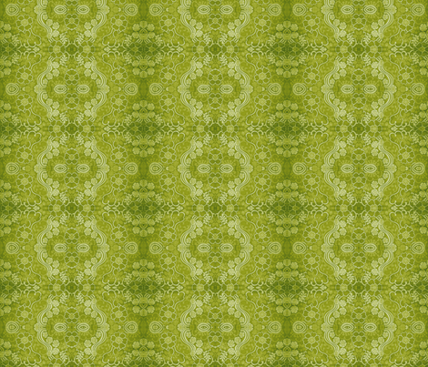 swirly_green_1 fabric by snork on Spoonflower - custom fabric