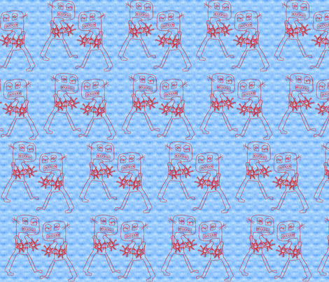 Robots in the Mist fabric by nalo_hopkinson on Spoonflower - custom fabric