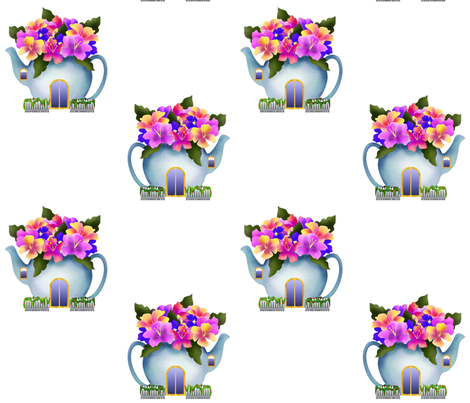 teapot_for_Michelle fabric by vo_aka_virginiao on Spoonflower - custom fabric