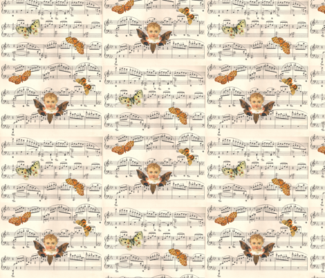 PaulaMusic_small1 fabric by telutelu on Spoonflower - custom fabric