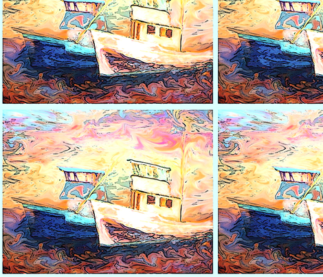 Seattle Fishing Boats fabric by nalla on Spoonflower - custom fabric