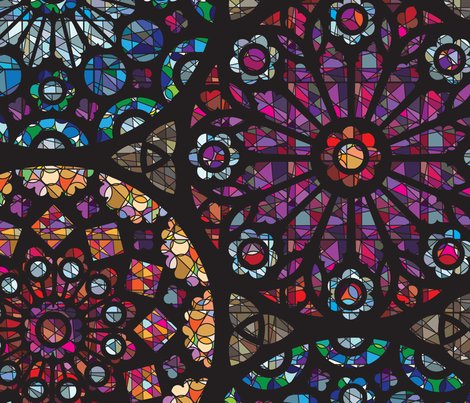 Stained glass rose windows sammyk spoonflower for Rose window design