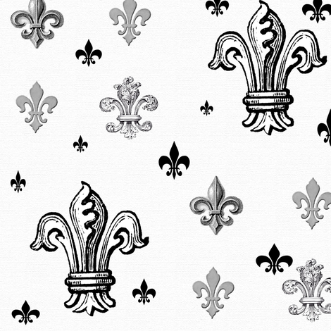 Raining Fleur de lis fabric by poetryqn on Spoonflower - custom fabric