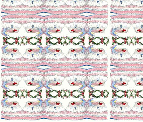 Baby's First Christmas fabric by karenharveycox on Spoonflower - custom fabric