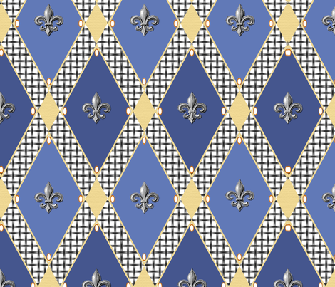 Post modern medieval fabric by poetryqn on Spoonflower - custom fabric