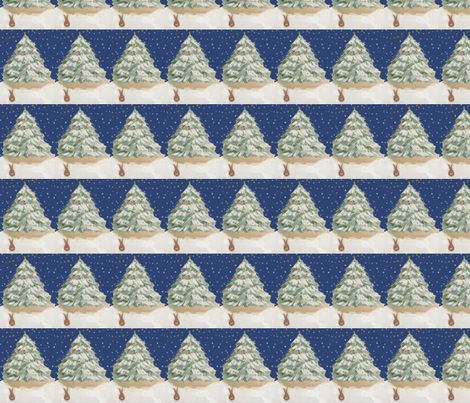 Benjamin's Christmas Tree fabric by karenharveycox on Spoonflower - custom fabric