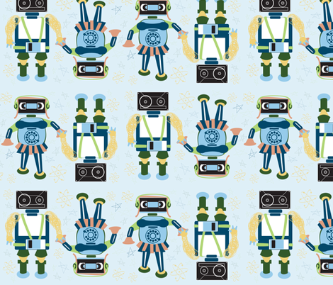 tapeheads_roBOTS fabric by art_is_hard on Spoonflower - custom fabric