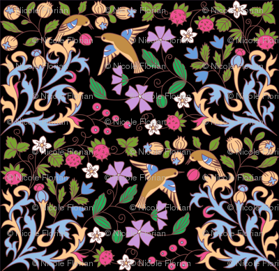 Medieval Calendar Inspiration Black