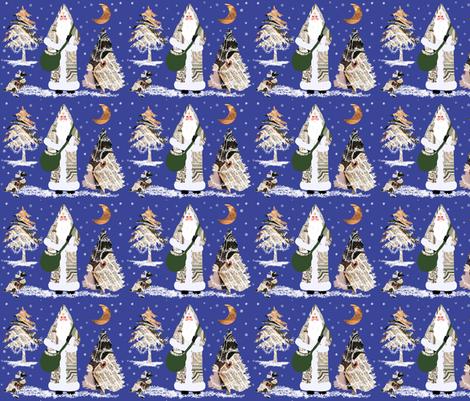 Vintage Father Christmas fabric by karenharveycox on Spoonflower - custom fabric
