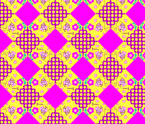 Bzzzy Bee Quilt fabric by kdl on Spoonflower - custom fabric