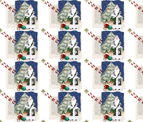 Father Christmas, A Scrapbook of Inspiration fabric by karenharveycox on Spoonflower - custom fabric