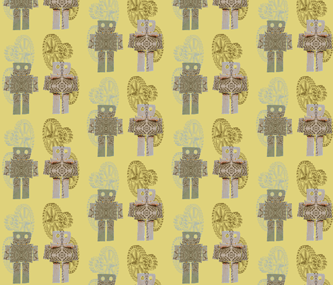 robots_2 fabric by thursday_next on Spoonflower - custom fabric