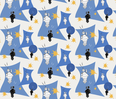 Beep Beep Robots fabric by poetryqn on Spoonflower - custom fabric