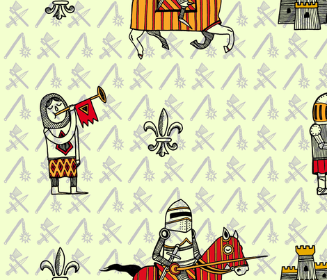 la grande cavalerie fabric by mahell on Spoonflower - custom fabric
