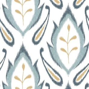 Autumn Ikat - Dusty Blue