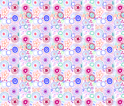 Summer Flower Fun fabric by purplesprinkles on Spoonflower - custom fabric