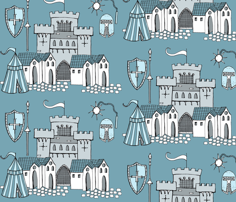 Knight, Knight fabric by creedancelovesyou on Spoonflower - custom fabric