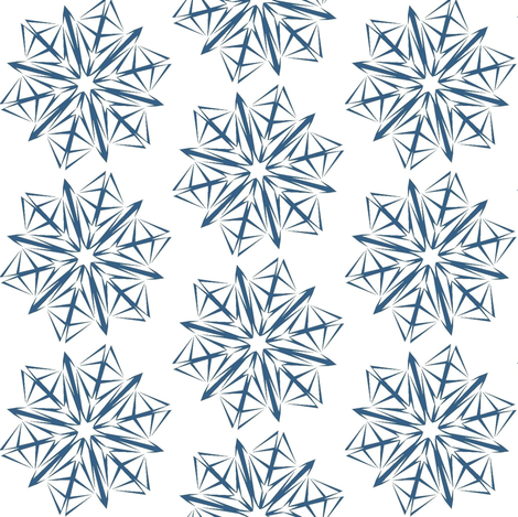 Cricketswool Signature Snowflake fabric by cricketswool on Spoonflower - custom fabric